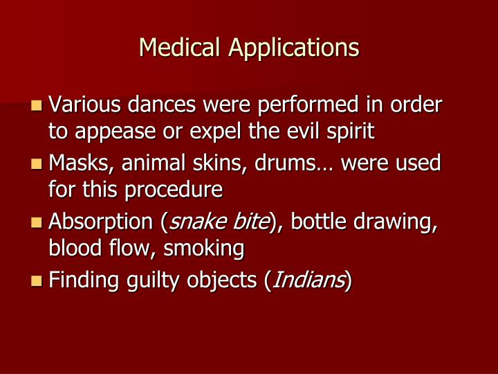 Medical Applications