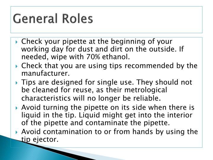 General Roles
