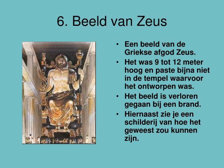 6. Beeld van Zeus