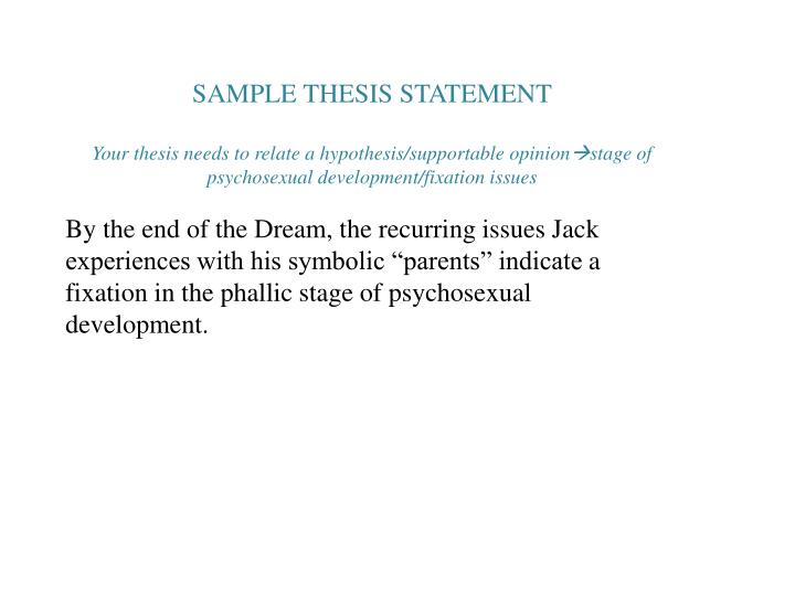 Samples Of Thesis Statement