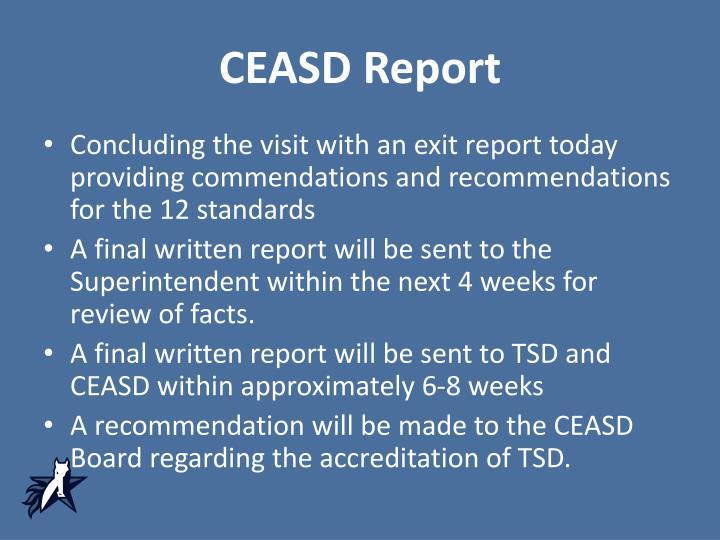 CEASD Report