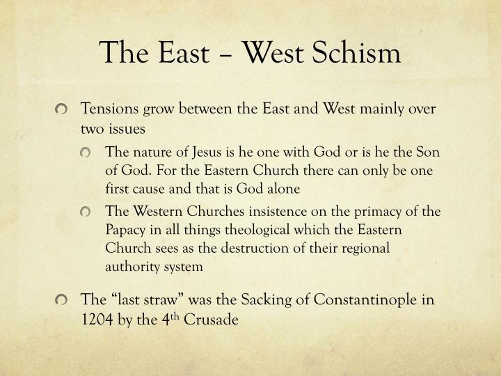 East west schism essays