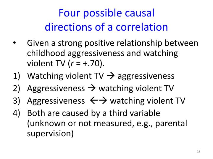 Four possible causal