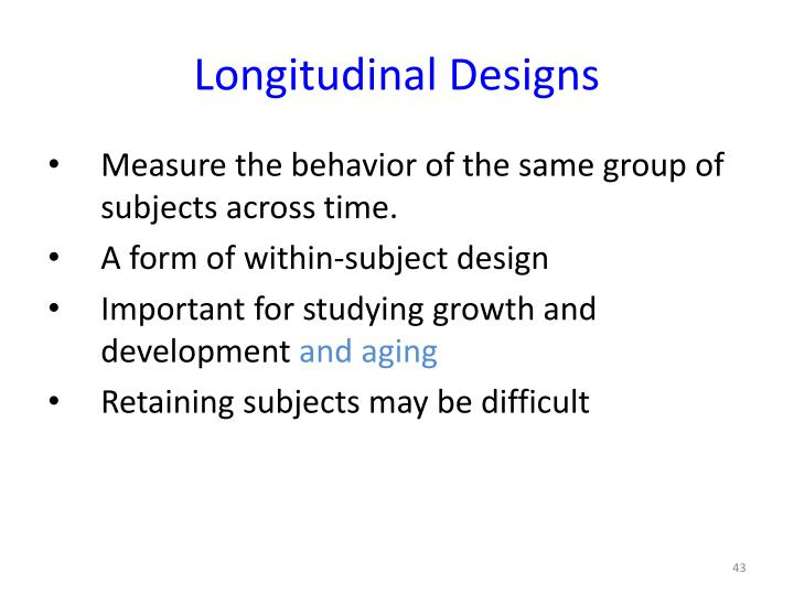 Longitudinal Designs