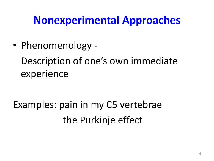 Nonexperimental Approaches