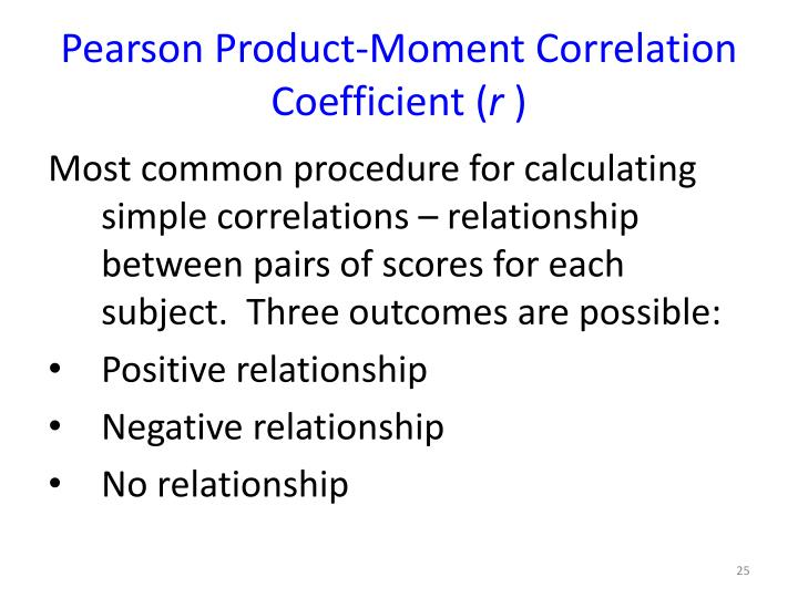 Pearson Product-Moment Correlation Coefficient (