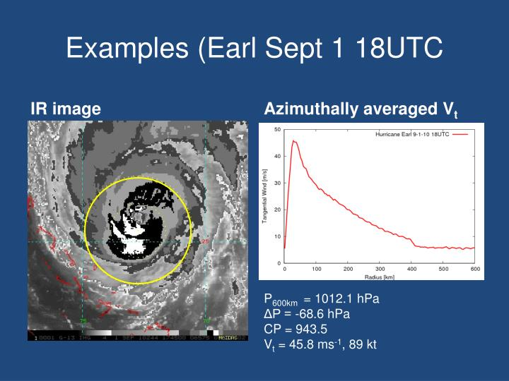 Examples (Earl Sept 1 18UTC