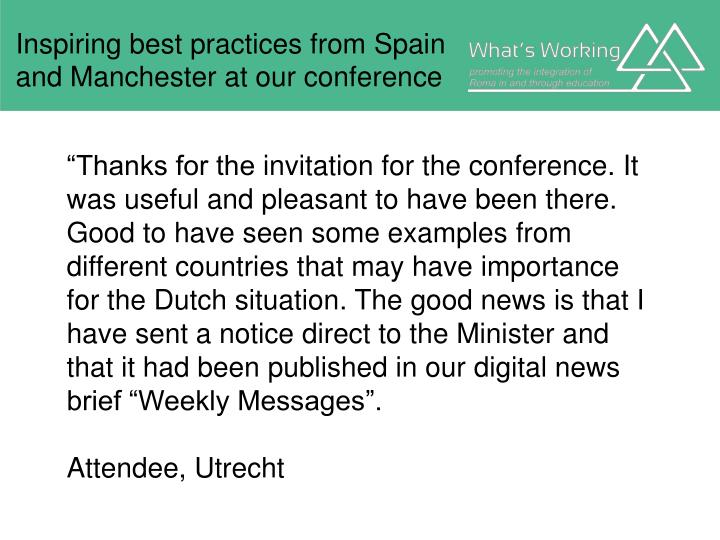 Inspiring best practices from Spain