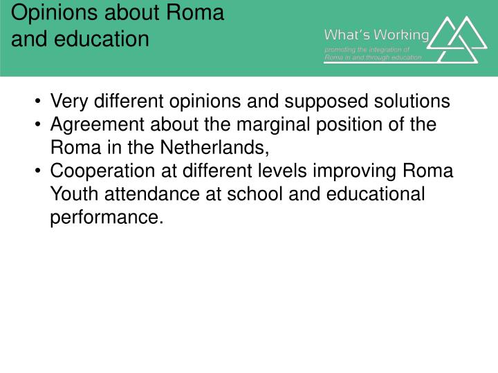 Opinions about Roma