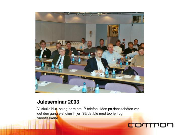 Juleseminar 2003