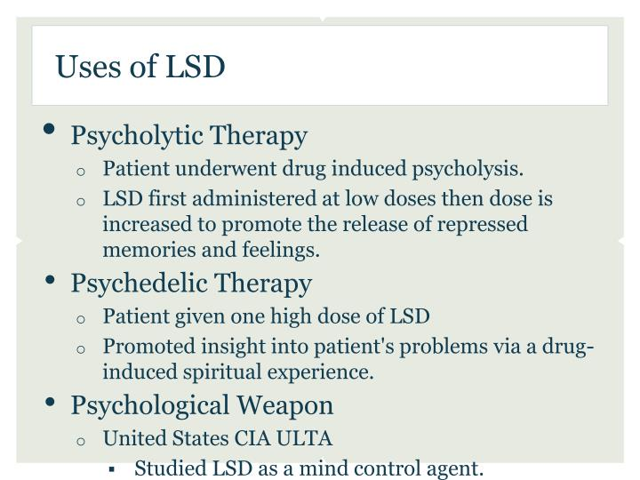 Uses of LSD