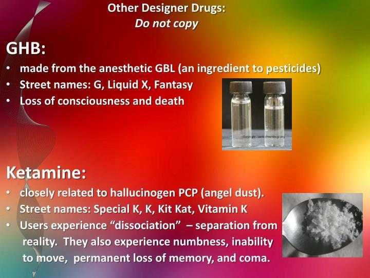 Other Designer Drugs: