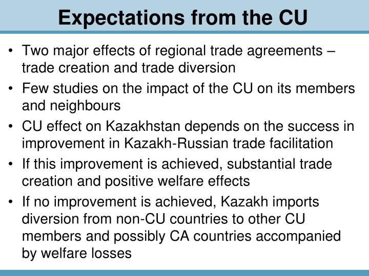 Two major effects of regional trade agreements – trade creation and trade diversion