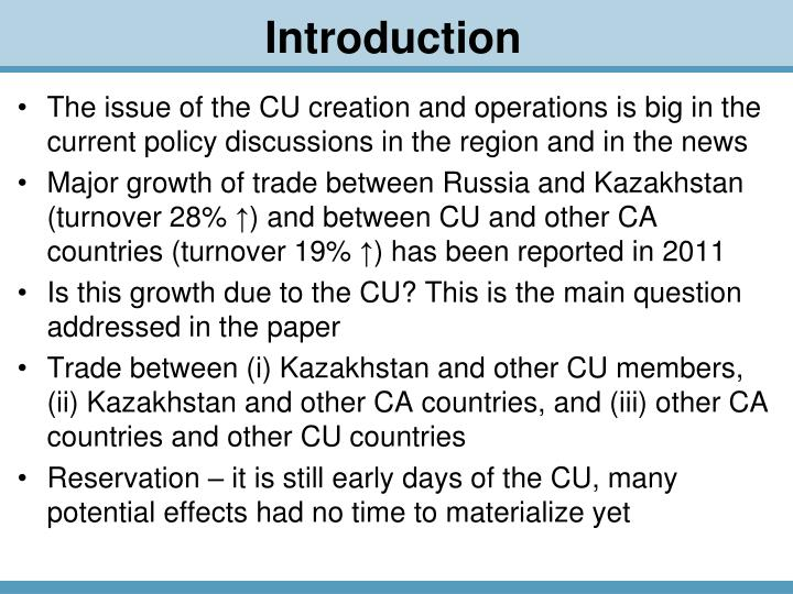 The issue of the CU creation and operations is big in the current policy discussions in the region and in the news