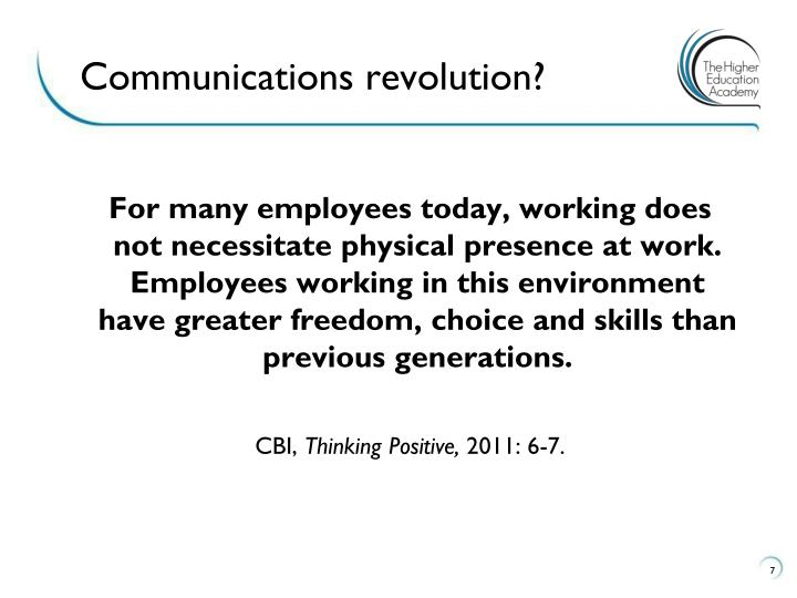 Communications revolution?