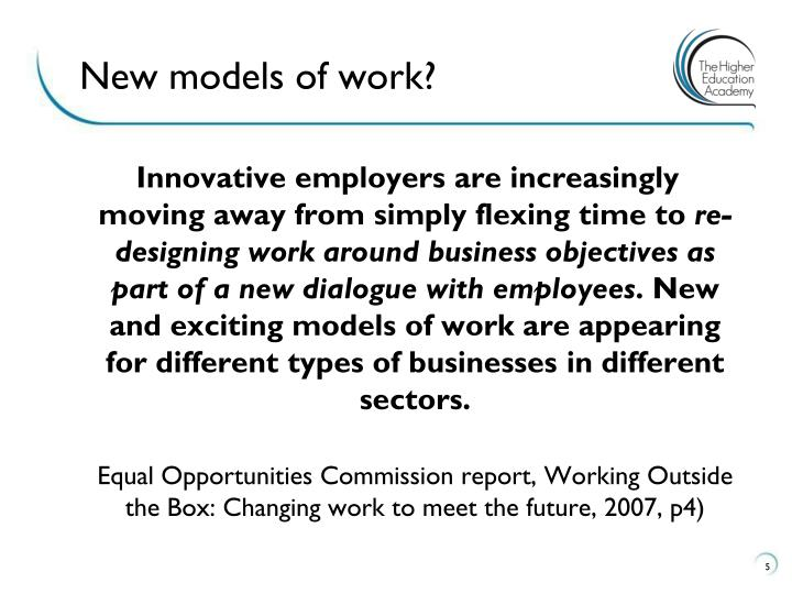 New models of work?