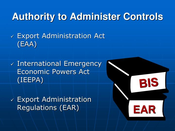 Authority to Administer Controls