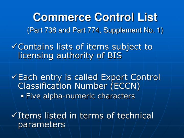 Commerce Control List