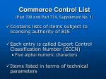 commerce control list part 738 and part 774 supplement no 1