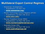 multilateral export control regimes