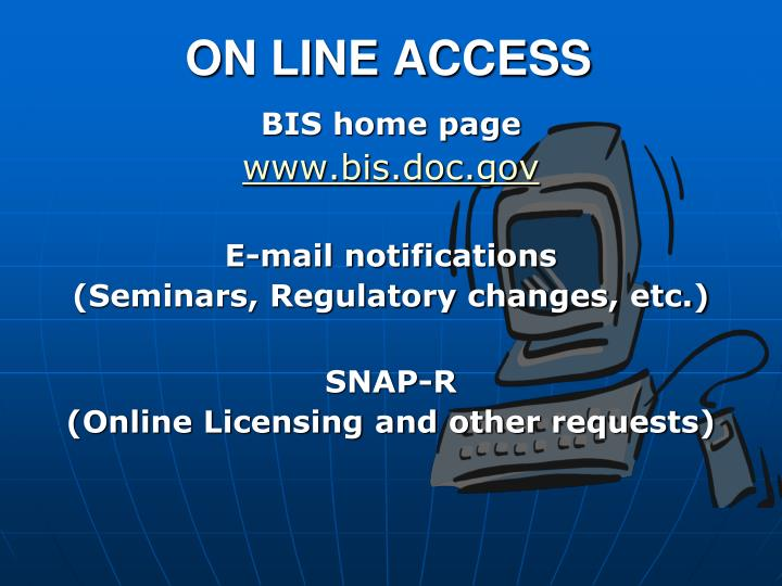 ON LINE ACCESS