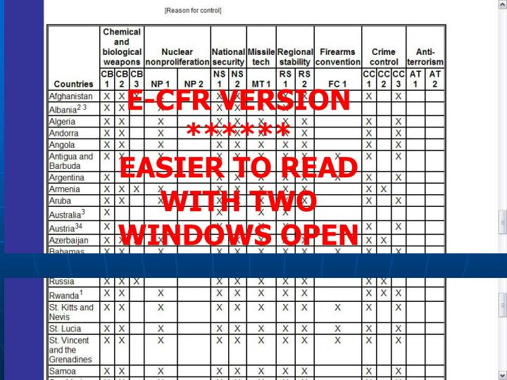 E-CFR VERSION