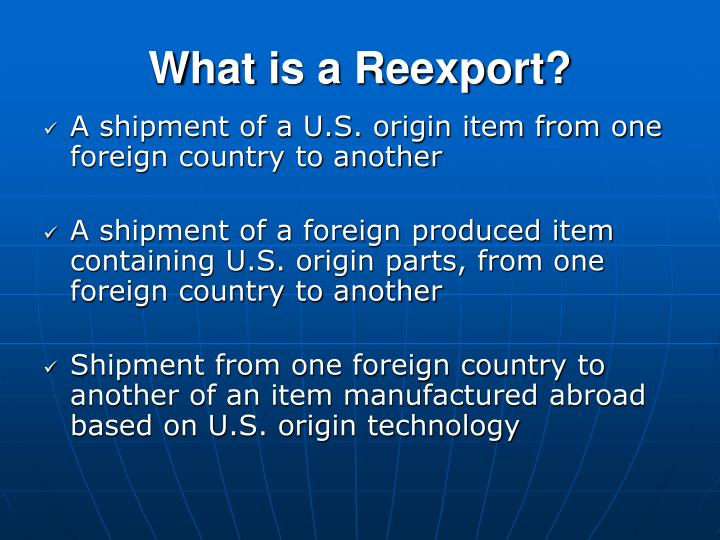 What is a Reexport?