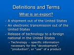 what is an export