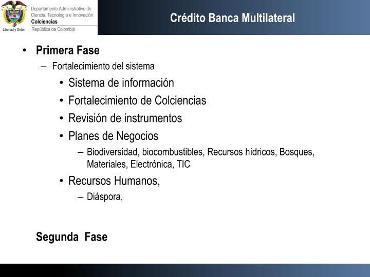 Crédito Banca Multilateral
