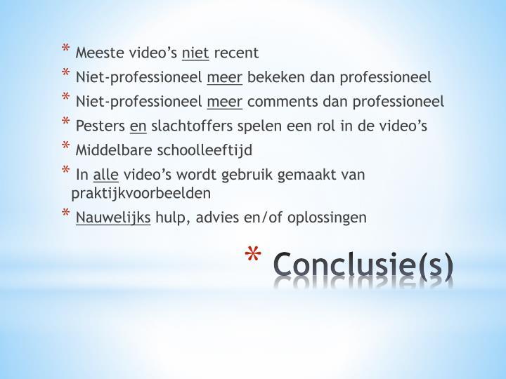 Meeste video's