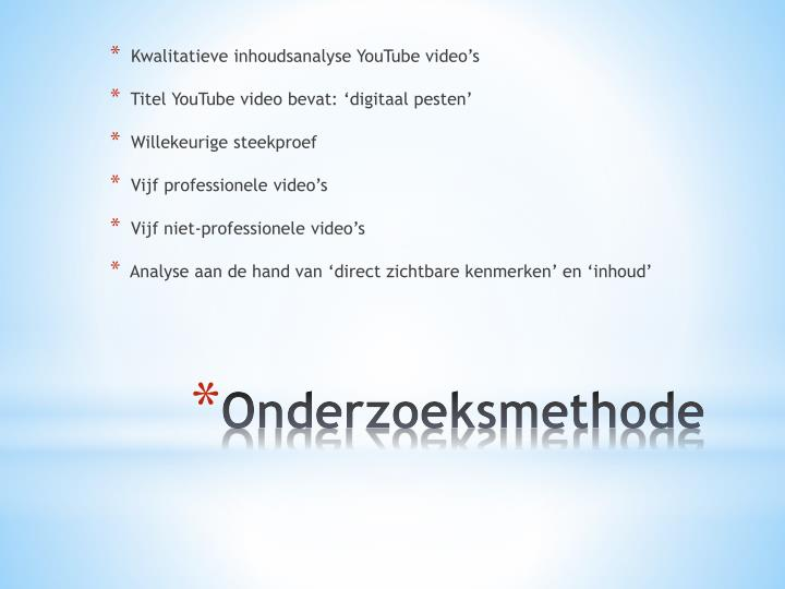 Kwalitatieve inhoudsanalyse YouTube video's