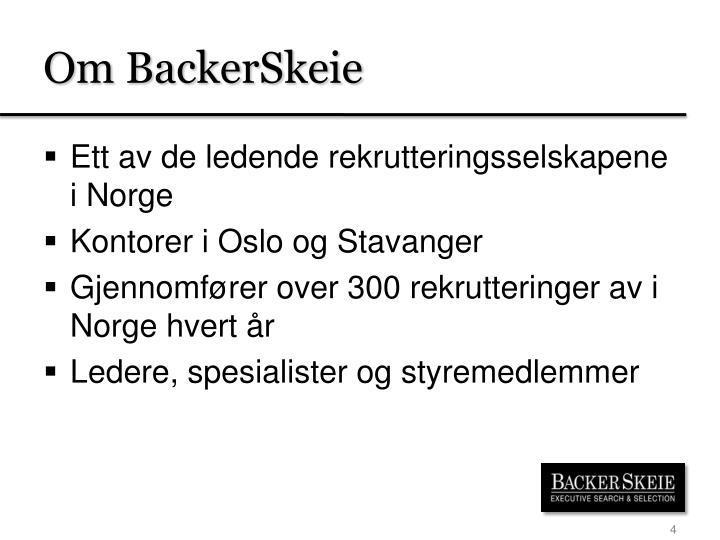 Om BackerSkeie
