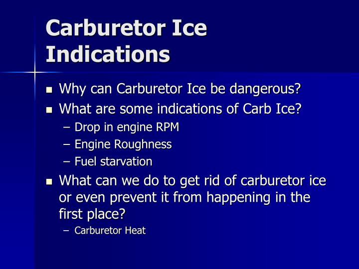 Carburetor Ice Indications