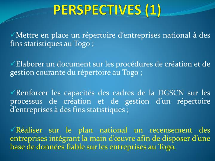 PERSPECTIVES (1)