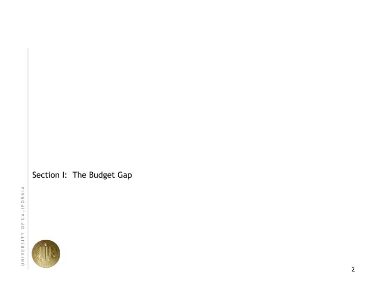 Section I:  The Budget Gap