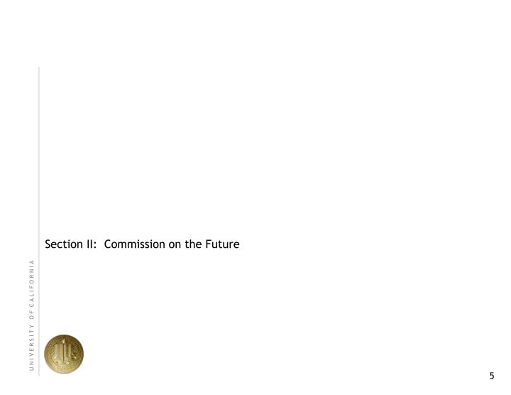 Section II:  Commission on the Future