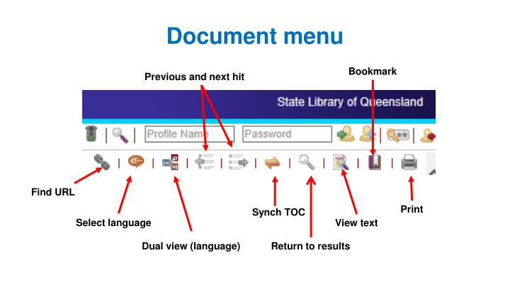 Document menu