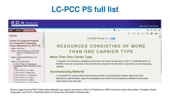 LC-PCC PS full list