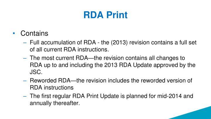 RDA Print