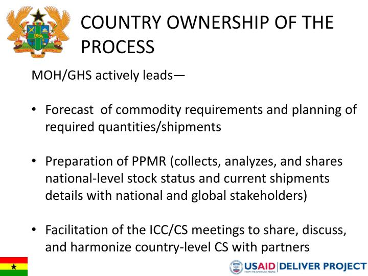 Country Ownership of the Process