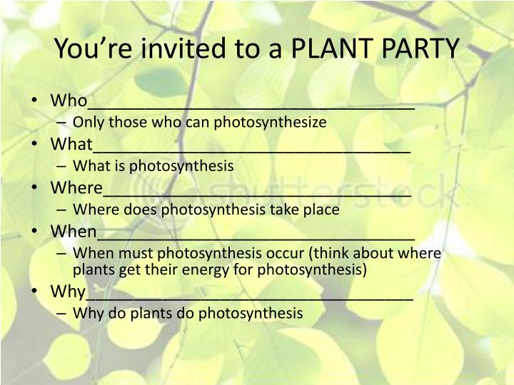 You're invited to a PLANT PARTY