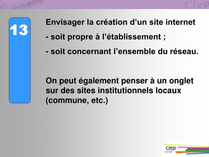 Envisager la cration dun site internet