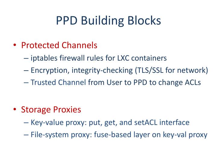 PPD Building Blocks