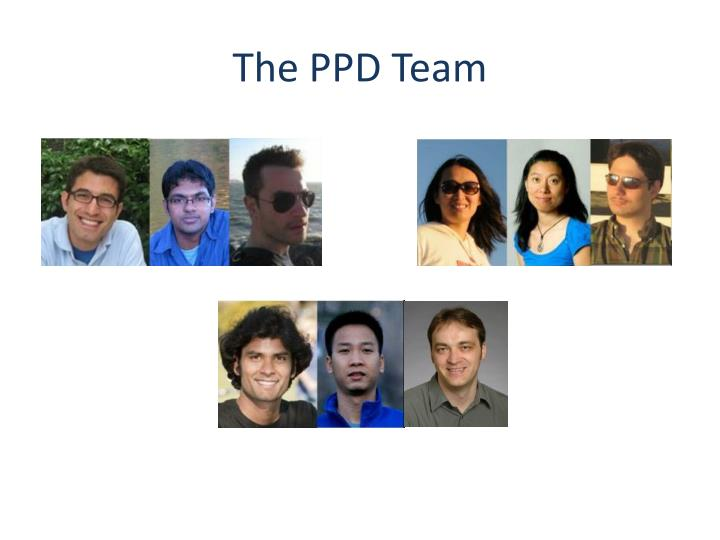 The PPD Team