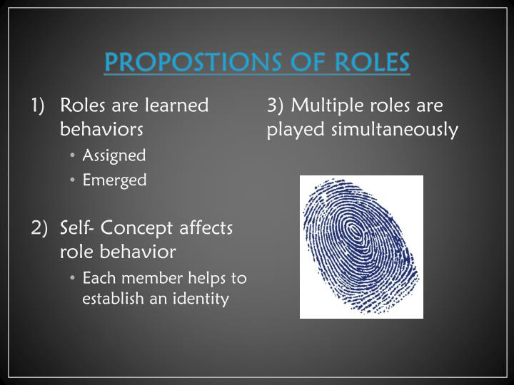 PROPOSTIONS OF ROLES