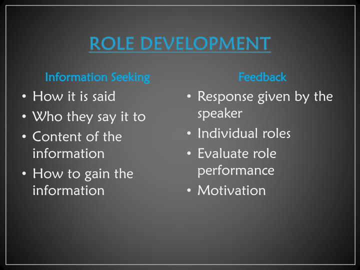 ROLE DEVELOPMENT