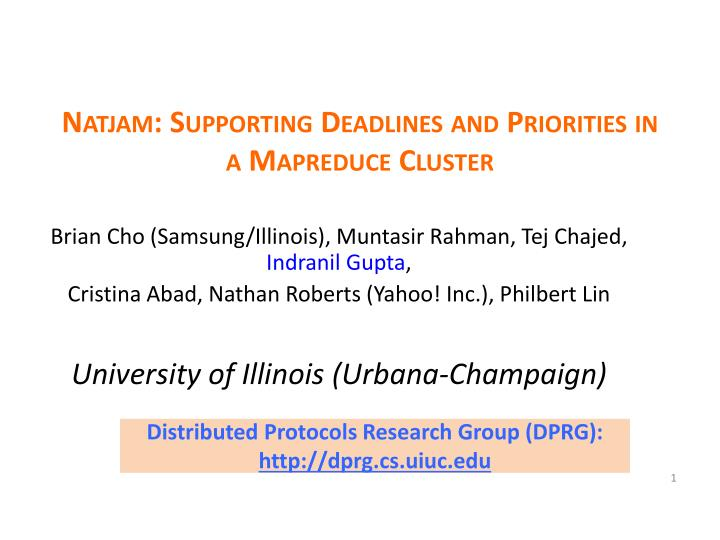 natjam supporting deadlines and priorities in a mapreduce cluster