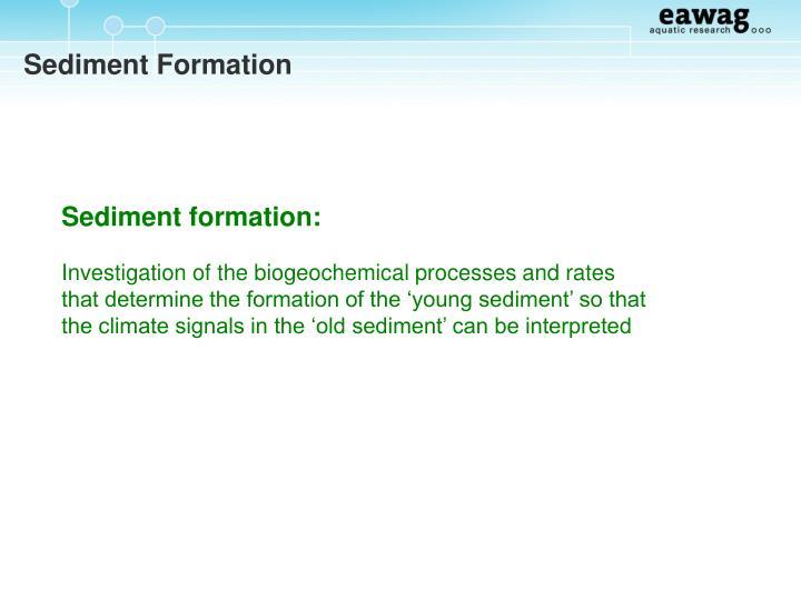 Sediment Formation