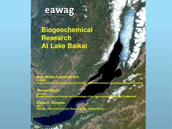Biogeochemical Research