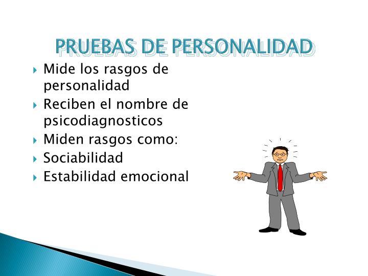 PRUEBAS DE PERSONALIDAD